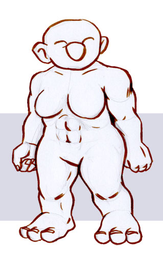 Troll Template:  Troll Female - Muscled