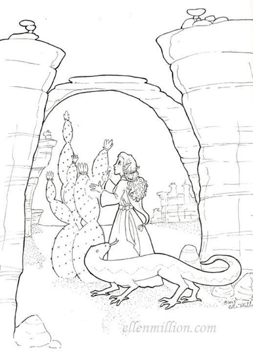 Evervale, Lizard-rider and Cactus-shaper (2015 AU Not-Wolfriders Contest)