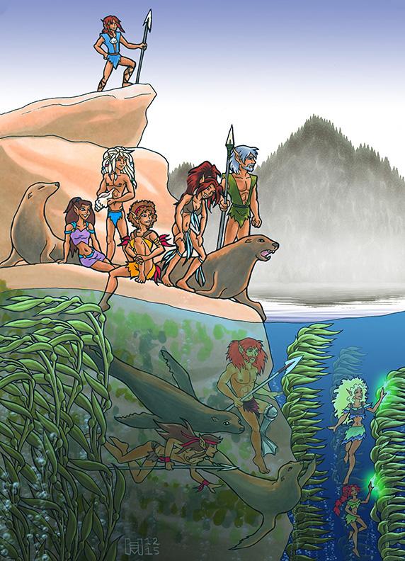 Sea-Lion Elves (2015 AU Not-Wolfriders Contest)