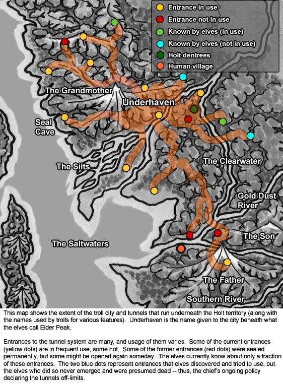 Troll Tunnels map
