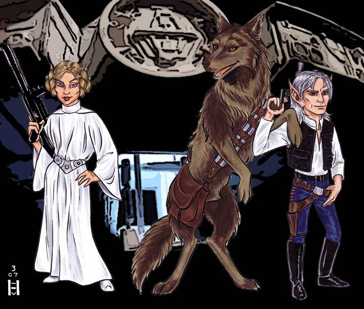 2007 Film Contest -- Easysinger & Blacksnake do Star Wars