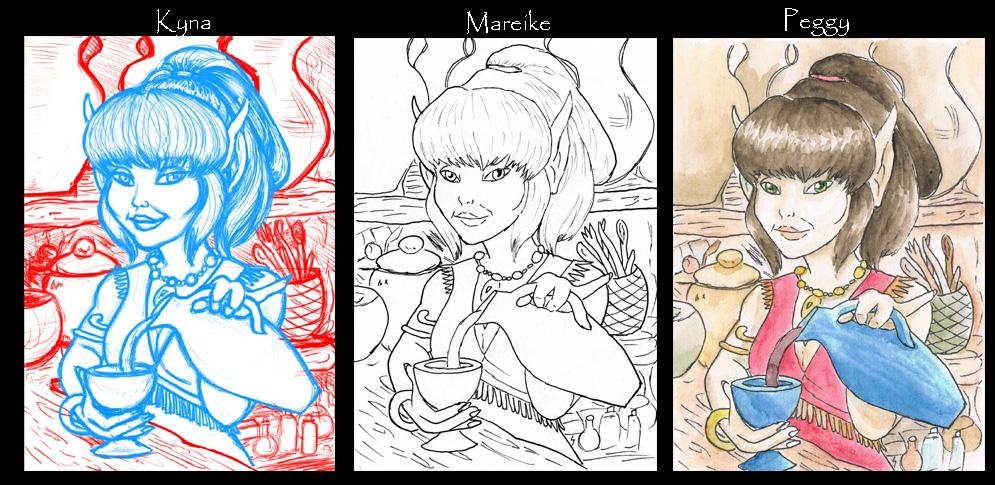 Starskimmer progression (2014 Artists Take Turns Project)