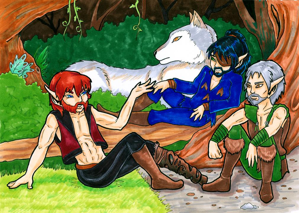 Brothers (One-Leg, Suddendusk & Blacksnake) (Howls for Holly)