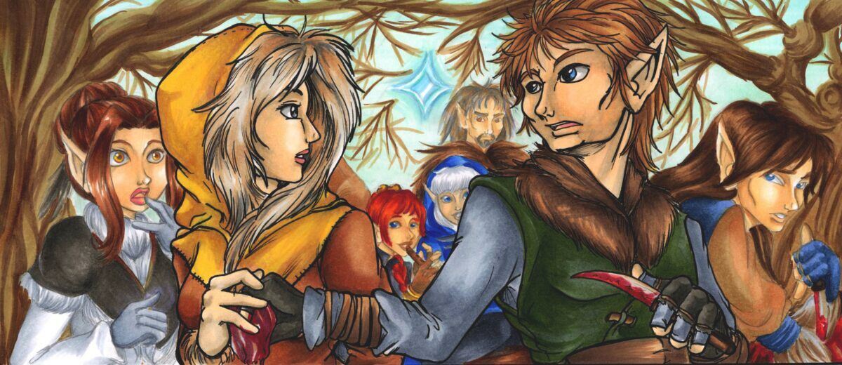 Recognition of Ice & Hawkcall (illo to Labors of Love)(July/Aug 2011 art trade)