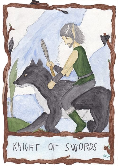 Blacksnake as the Knight of Swords (May/June 2009 art trade)