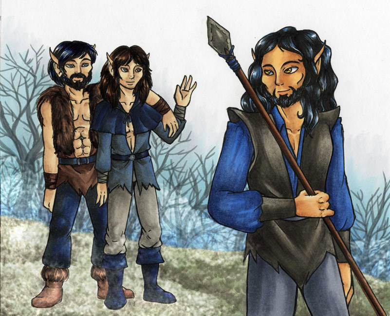 Raven and his brothers, Bearheart and Fletcher (Howls for Holly)