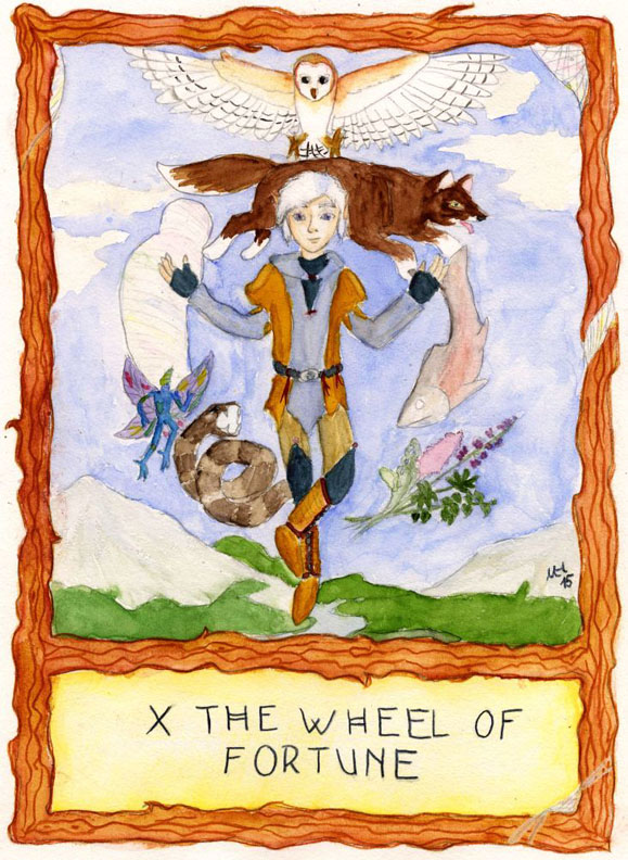 RTH Tarot: Newt as the Wheel of Fortune (2014 Jan/Feb Trade)
