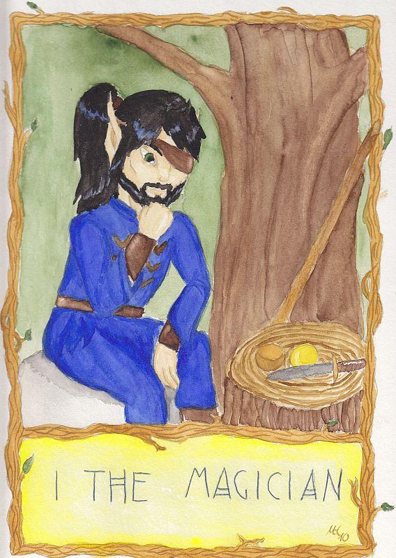 Suddendusk Tarot: The Magician (March/April 2010 art trade)
