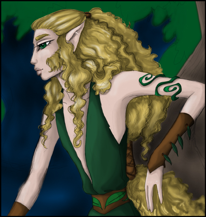 Greenleaf (art by Rachel V., coloring by Trena)