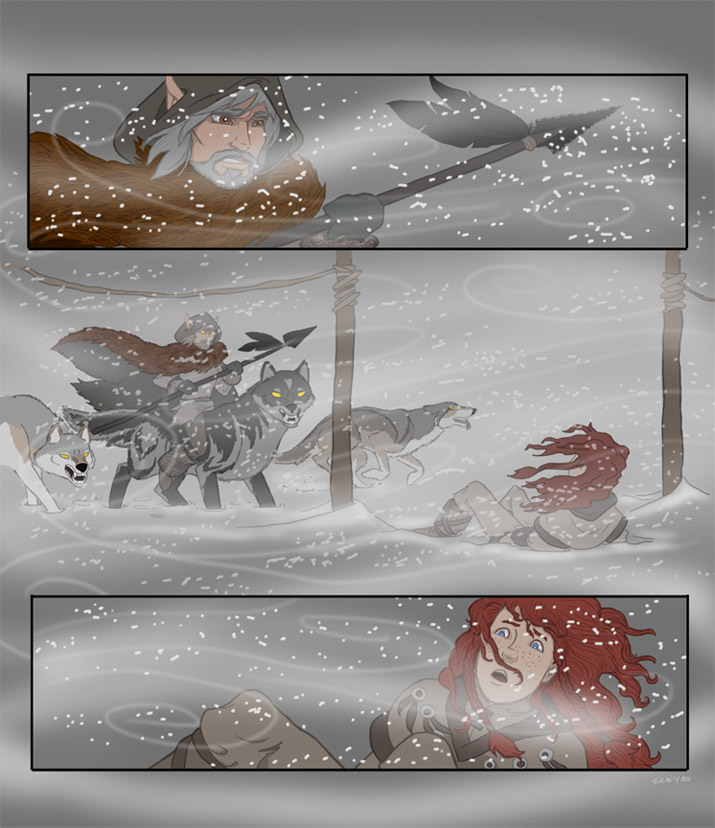 Illo for Gathering Storm p7 (2014 Strong Emotions Contest)(2011 Summer Comments Challenge)