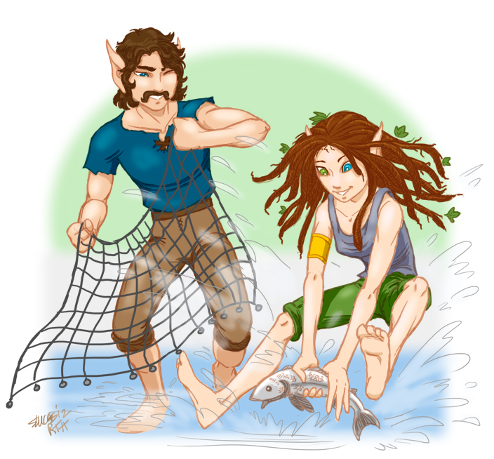 Oakhand & Riversong fishing (2012 Random Ancestors Contest)