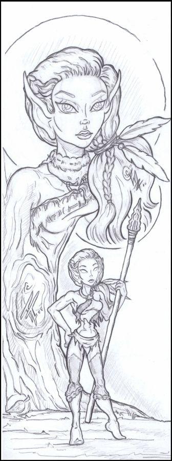 Snowfall Character Study (2013 March/April art trade)