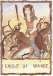 Willow Tarot: Knight of Wands (July/Aug 2010 art trade)