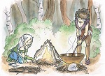 Whitebraid & Feather cooking (2012 Random Ancestors Contest)